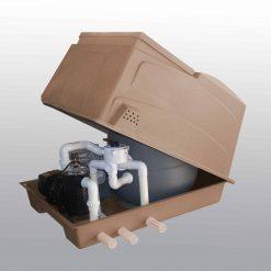 combi box brown open