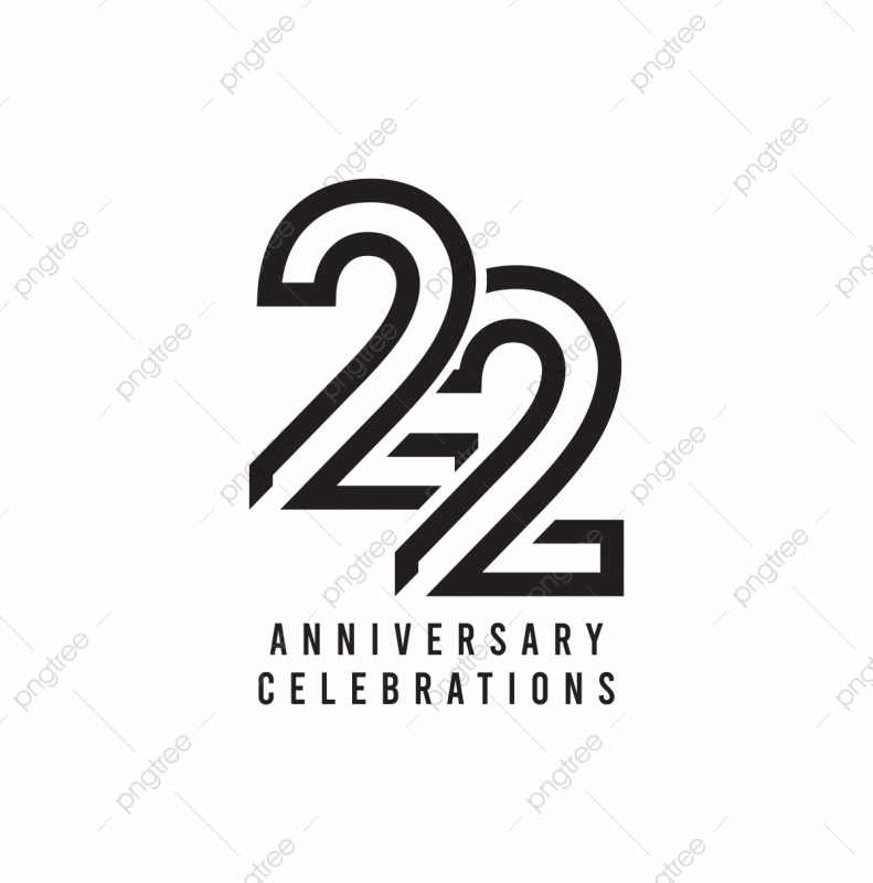 pngtree 22 years anniversary celebration vector template design illustration png image 5104109